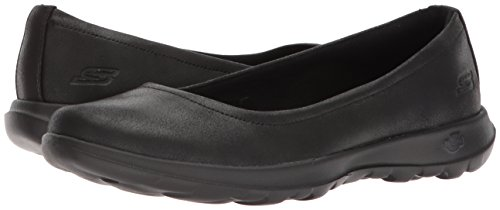 Skechers Performance Women's Go Walk Lite-15395 Ballet Flat, Black, 10 M US by Skechers (Image #6)