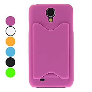 JJE Solid Color Hard Case with Card Slot for Samsung Galaxy S4 I9500 (Assorted Colors) , Blue