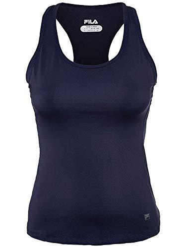 - Fila Women's Core Racerback Tennis Tank Shirt, Peacoat, M