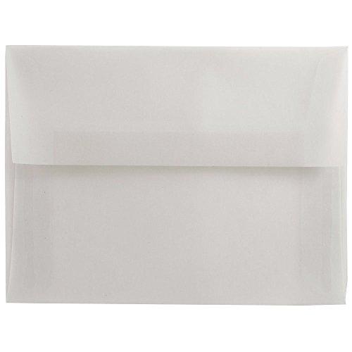 JAM PAPER A7 Translucent Vellum Invitation Envelopes - 5 1/4 x 7 1/4 - Clear - 50/Pack ()