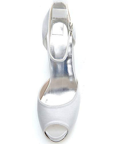 Avec Aux Sandales femmes Yojdtd Talons Hauts À Bas Chaussures Bleu 1wqfqH0