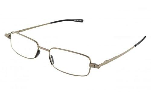 Foster Grant Gavin Men's Folding Gunmetal Reading Glasses in Case +2.75