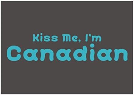 Teeburon Kiss ME, I Am Canadian Pack de Pegatinas x4: Amazon.es: Hogar