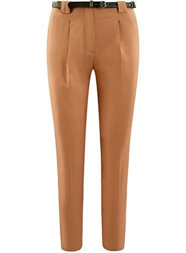 3500n Cintura in Donna Beige con Cotone oodji Collection Pantaloni 5xHqYFt8n