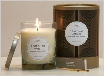 Opoponax Amber Soy Candle By Kobo Candles (Opoponax Candle)