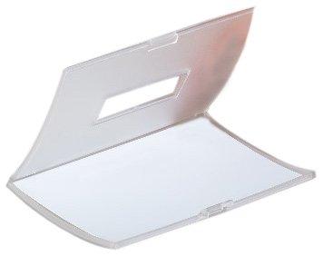 Durable Click Fold - Soporte de tarjeta identificativa con imán (75 x 40 mm, 10 unidades)