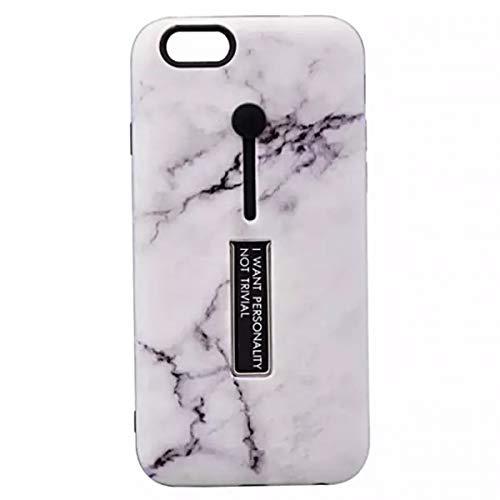 大理石調 iPhone7plus ケース iPhone8plus ケース アイフォン 落下防止 収納 リング スタンド iphone カバー アイホン スマホケース 携帯ケース (iPhone7/8Plus, ホワイト)