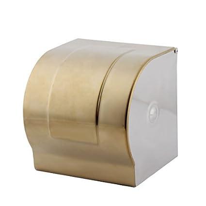eDealMax baño enchapado en oro colgados de la pared sostenedor de Papel higiénico de tejidos rodillo