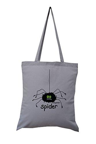 tote grey 'Spider' 'Spider' cotton grey tote grey 'Spider' bag cotton bag TzrwdnWzqF