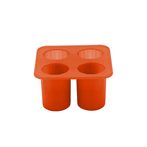 (Large Silicone Ice Cube Trays, Wulofs✿ Cylindrical Shape Ice Cube Maker Ice Tray Ice Cube Mold Storage Containers (orange))