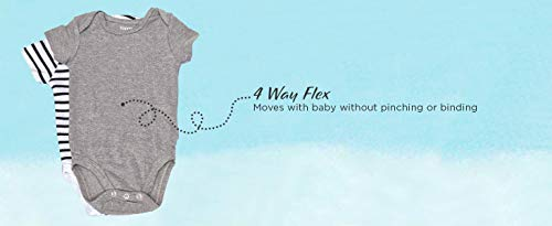 Hanes Ultimate Baby Flexy 5 Pack Short Sleeve Bodysuits