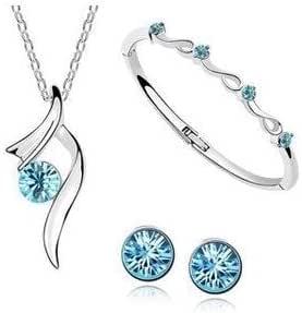 Natthom Colgante cristalino natural del diamante del cristal de la gota del collar de la plata esterlina de la plata esterlina (B)