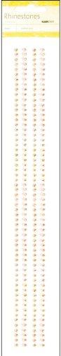 Rhinestone Kaisercraft Strip (Self-Adhesive Tangerine Rhinestone Strips - 12