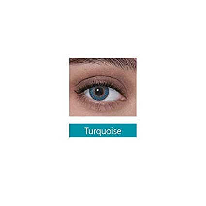 3737dbc8672 Buy freshlook monthly disposable color contact lens with affable contact  lens case free (pack of 2 lens) (Turquoise) Online at Low Prices in India -  Amazon. ...