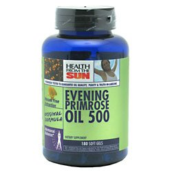 Cheap Evening Primrose Oil 500mg Hexane Free-Premium Seeds Health From The Sun 180 Caps