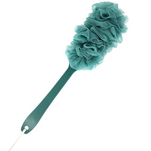 Prozklves Back Scrubber for Shower, Long Handle Bath Sponge Shower Brush, Soft Nylon Mesh Back Cleaner Washer, Body Bath Brush for Women and Men, Bathroom Shower Accessories (Green)