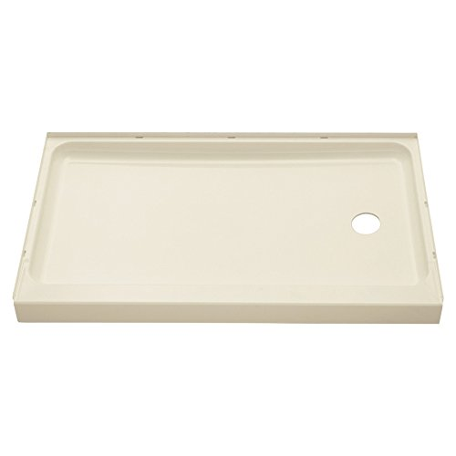 (STERLING 72171120-96 60-Inch Shower Base Vikrell Right Drain, Biscuit)