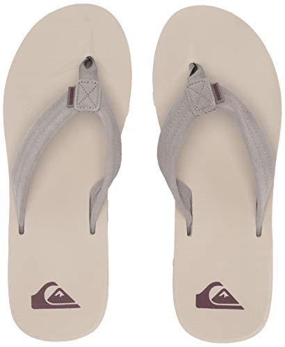 Quiksilver Slip Sandals - Quiksilver Men's Carver Suede Sandal, Grey, 8(41) M US