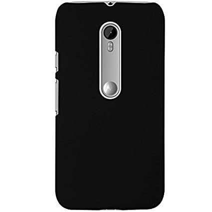 new style a4a46 2419d WOW Imagine(TM) Rubberised Matte Hard Case Back Cover for Motorola Moto G3  G 3rd Gen (Black)
