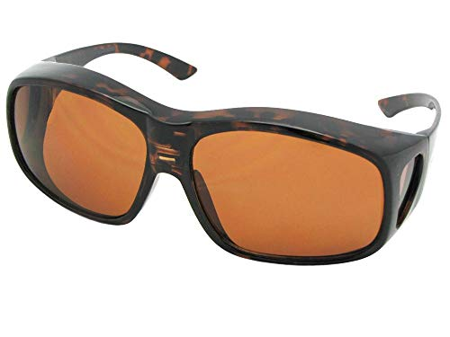 Largest Non Polarized Fit over Sunglasses Style F19 Sunglass Rage (Tortoise Frame-Non Polarized Amber ()