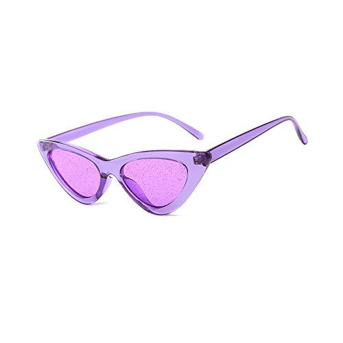 Flower falling Outdoor cat Eye Jelly Color Sunglasses Eye Flat Mirror Radiation Glasses Riding Glasses,Purple