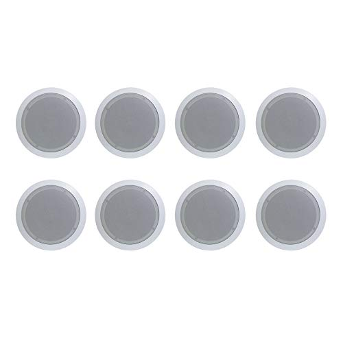 8) New PYLE PRO PDIC61RD 6.5'' 200W 2-Way In-Ceiling/Wall Speaker System White (Best 6.5 Inch Ceiling Speakers)