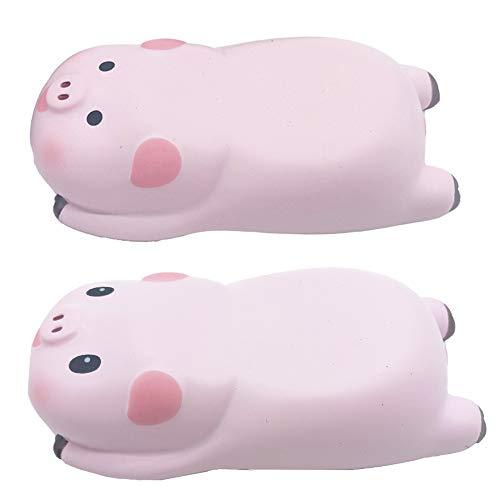 SKYZONAL Wrist Rest Mouse Pad Memory Foam Ergonomic Design Cute Pig Shape (1 Pair)