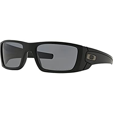 Oakley Men's FuelCell Polarized Sunglasses, Matte Black Frame/Grey Polarized Lens