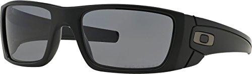 Oakley Men's FuelCell Polarized Sunglasses, Matte Black Frame/Grey Polarized - Oakley Prescription Sunglasses Mens