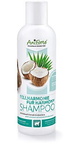 AniForte Fellharmonie Hundeshampoo mit Aloe Vera 200ml - natürliche Pflege für Fell & Haut, Shampoo frei von Farbstoffen & Silikonen, Pflegeshampoo für Hunde