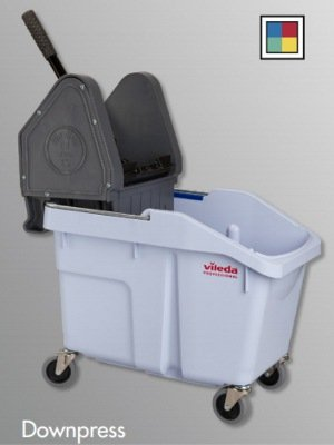 Vileda Professional 133879 UltraFlex Mop Bucket with Casters and Downpress Wringer (1 unit) by Vileda Professional
