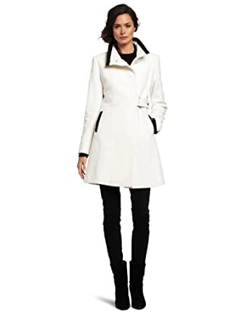 Via Spiga Women's Luxurious Wool Coat, Winter White, 2