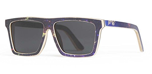 677c3024b8 Proof Eyewear Unisex Cosmo Galaxy Skate Wood Sunglasses Handcrafted Water  Resistant