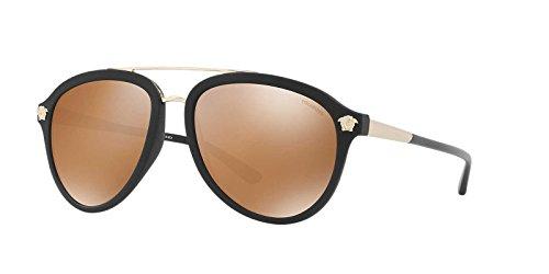 Versace Mens Sunglasses Black Matte/Gold Plastic,Nylon - Polarized - - Sunglasses Gold Black And Versace