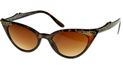 Cateye Women's Eyeglasses or Sunglasses Vintage Inspired Fashion (Brown Cat-eye Shades)