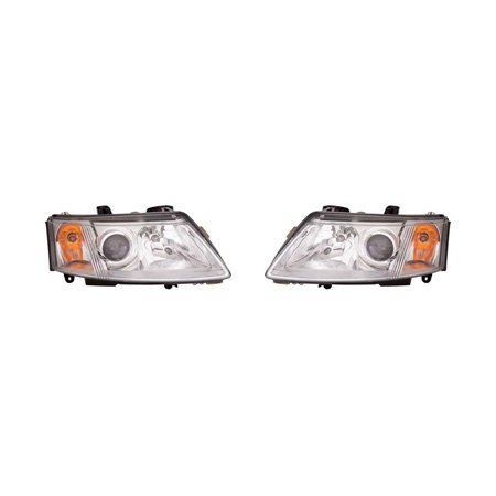 Saab 93 Sedan 2003-2007/Coupe 2004-2007 Headlight Assembly Pair Driver and Passenger Side SB2502109, (Passenger Side Headlight Assembly Coupe)