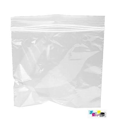 Materiel-pro Lote de 500 Bolsas Multiusos con Cierre hermético, 60 x 80 mm