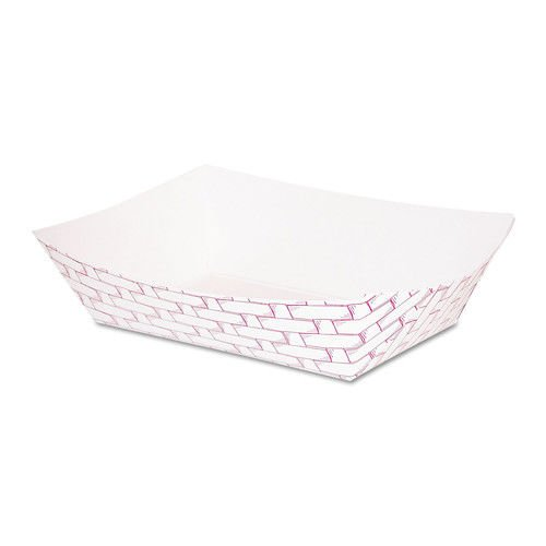 Boardwalk Red Weave Paper Food Tray, 1 Pound - 1000 per case.