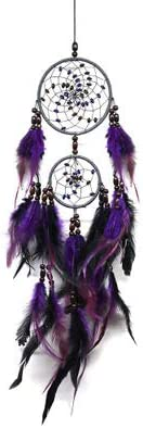 FANTY Dream Catcher, Kids Wall Hanging Decoration Handmade Purple Feather Boho Big Dreamcatchers