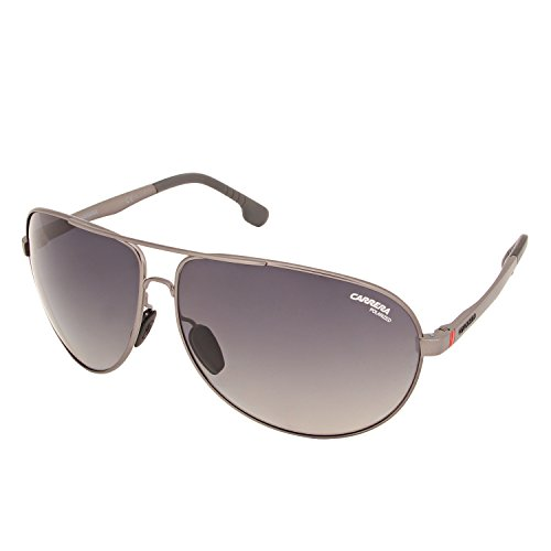 Carrera Men's Ca8023s Polarized Aviator Sunglasses, Matte Dark Ruthenium/Gray SF Polarized, 65 - Safilo Glasses