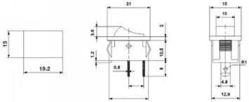 2 Position Wipptaste Switch AERZETIX 15A//250V Druckknopfschalter Grau C10704 DPST Schalter Kippschalter ON-OFF