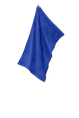 Microfiber Towel Grommeted Golf (Port Authority Grommeted Microfiber Golf Towel. TW530 Royal OSFA)