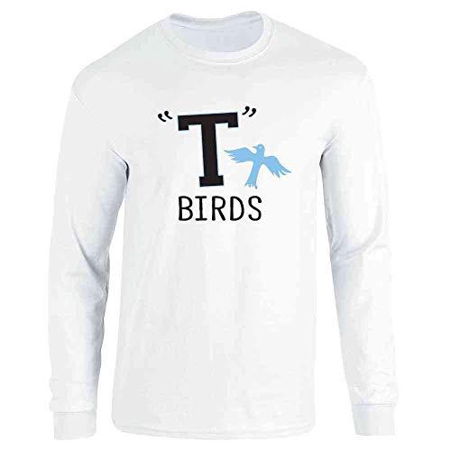 T Birds Gang Logo Costume Retro 50s 60s White L Long Sleeve T-Shirt