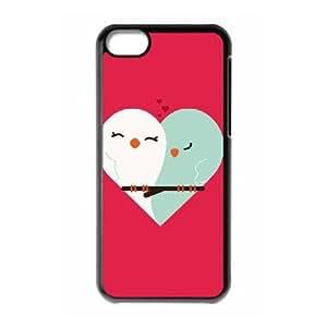 iPhone 5c Cell Phone Case Black Owl Heart OJ648826