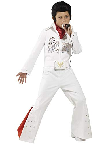 Boys Elvis Presley Celebrity Musician Star 1950's 50's Rock N Roll Book Day Fancy Dress Costume Outfit (10-12 Years) White