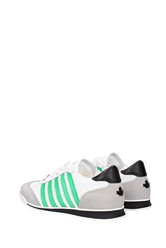 Dsquared2 Scarpe Da Uomo Scarpe Da Ginnastica Sneakers New Runner Bianco Verde
