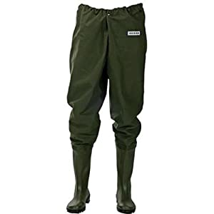 Ocean original waist waders 500g pvc sizes 7 13 fishing for Fishing waders amazon