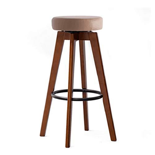 NUBAO Bar Stool, Bar Chair, Counter Chair, Restaurant High Stools, 360° Rotation Sponge Cushion Bentwood 74cm High Suitable 110cm Bar Counter (Color : ()