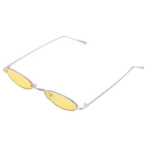 amarillo de Eyewear TOOGOO sol sol Mujeres Amarillo Vintage women pequenas Gafas Gafas S8011 de de Ladies retro Gafas redondas sol HpAqxSp