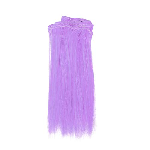 80s Wigs for Women, 1PC Fashion 15X106Cm Wholesale Straight Hair Hair for DIY/BJD Wig Doll (Purple)
